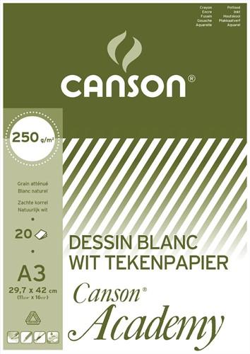 Canson Tekenblok Academy ft 29,7 x 42 cm (A3)