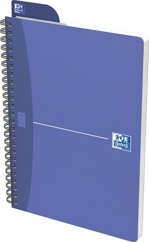 Oxford Office Essentials spiraalschrift, 100 bladzijden, ft A5, geruit 5 mm, geassorteerde kleuren