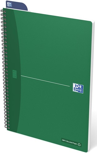 Oxford OFFICE Recycled spiraalblok, 180 bladzijden, ft A4, geruit 5 mm 1 Stuk