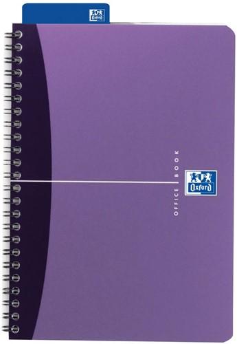 Oxford Office Urban Mix spiraalschrift, 180 bladzijden, ft A5, geruit 5 mm 1 Stuk