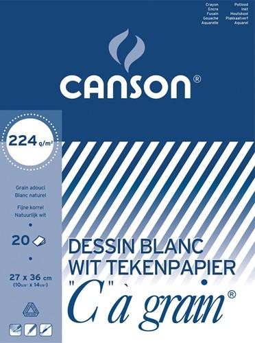 Canson tekenblok C à grain 224 g/m², ft 27 x 36 cm