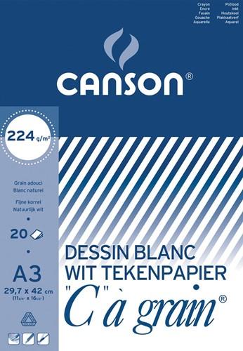 Canson tekenblok C à grain 224 g/m², ft 29,7 x 42 cm (A3)