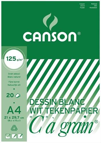 Canson tekenblok C à grain 125 g/m², ft 21 x 29,7 cm (A4)