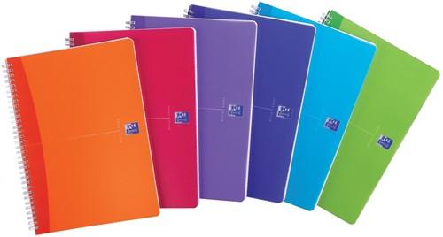 Oxford Office My Colours spiraalschrift, 180 bladzijden, ft A4, gelijnd, geassorteerde kleuren 1 Stuk