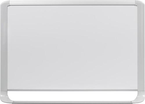 Bi-Office MasterVision emaille whiteboard met lichtgrijze kader ft 90 x 60 cm