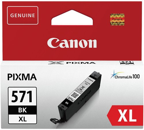 Canon inktcartridge CLI-571XL, 810 pagina's, OEM 0331C001, zwart 1 Stuk