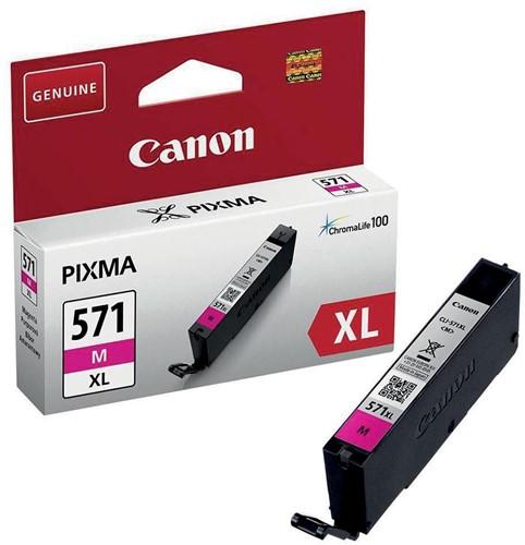 Canon inktcartridge CLI-571XL, 715 pagina's, OEM 0333C001, magenta 1 Stuk
