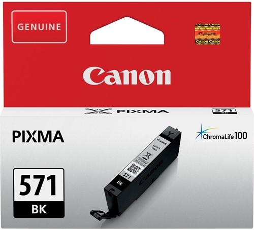 Canon inktcartridge CLI-571Z, 1.800 pagina's, OEM 0385C001, zwart 1 Stuk