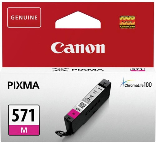 Canon inktcartridge CLI-571M, 345 pagina's, OEM 0387C001, magenta 1 Stuk