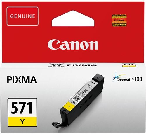 Canon inktcartridge CLI-571Y, 345 pagina's, OEM 0388C001, geel 1 Stuk