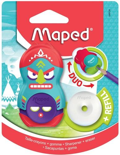 Maped potloodslijper + gom Totem, blister met 1 stuk