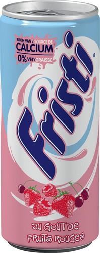 Fristi yoghurtdrank, blik van 25 cl, pak van 12 stuks