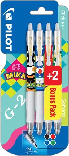 Pilot roller G-2 07 Mika, blister van 2+2 gratis in geassorteerde kleuren