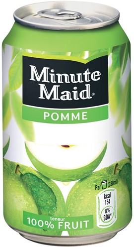 Minute Maid Appel vruchtensap, blik van 33 cl, pak van 24 stuks 33