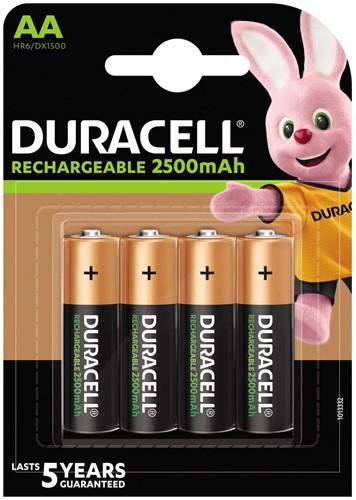 Duracell oplaadbare batterijen Recharge Ultra AA, blister van 4 stuks 4 Stuk