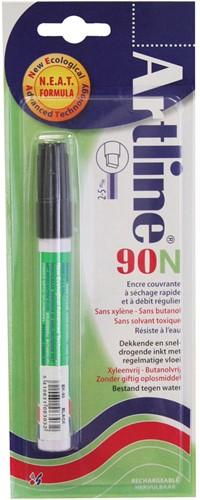 Permanent marker Artline 90 zwart (op blister)