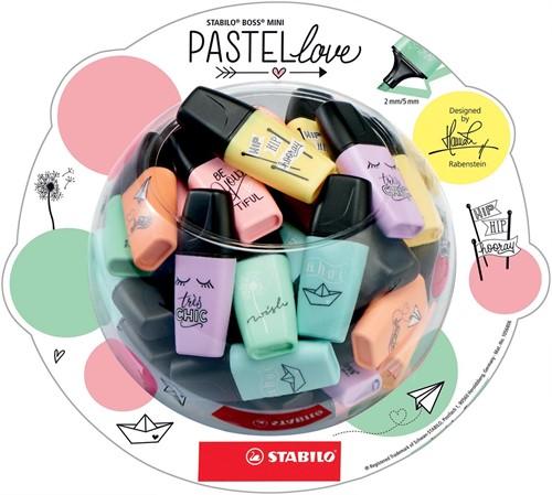 STABILO BOSS MINI Pastellove markeerstift, display van 50 stuks in geassorteerde pastelkleuren 1 Stuk
