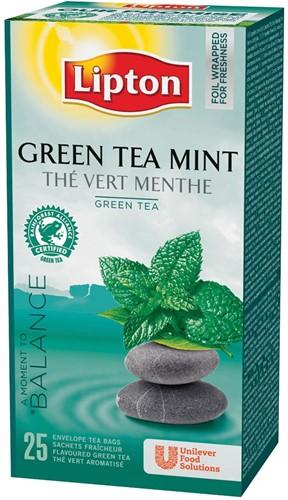 Lipton thee, Green Tea Mint, pak van 25 zakjes 25 Stuk