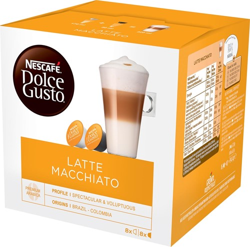 Nescafé Dolce Gusto koffiecapsules, Latte Macchiato, pak van 16 stuks 16 Cup
