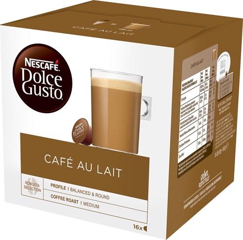 Nescafé Dolce Gusto koffiecapsules, Café au lait, pak van 16 stuks 16