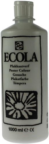 Talens Ecola plakkaatverf flacon van 1000 ml, wit