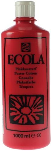 Talens Ecola plakkaatverf flacon van 1000 ml, scharlaken