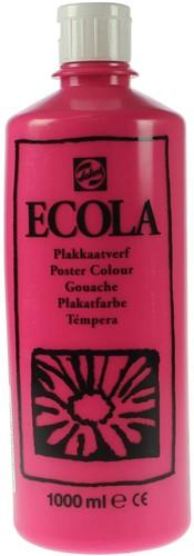 Talens Ecola plakkaatverf flacon van 1000 ml, tyrisch roze (magenta)