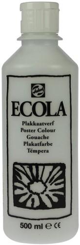 Talens Ecola plakkaatverf flacon van 500 ml, wit