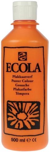 Talens Ecola plakkaatverf flacon van 500 ml, oranje