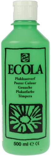 Talens Ecola plakkaatverf flacon van 500 ml, lichtgroen