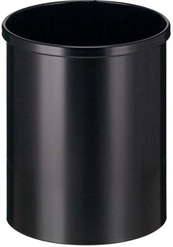 Eko papierbak uit metaal, inhoud 15 L, zwart 1 Stuk