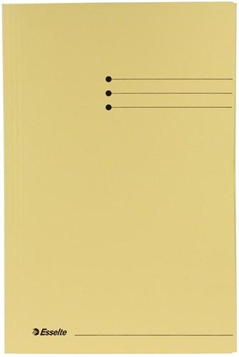 Esselte dossiermap geel, ft folio