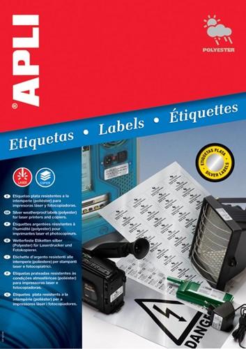 Apli Zilverkleurige etiketten ft 45,7 x 21,2 mm (b x h), 960 stuks, 48 per blad