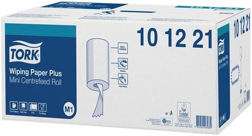 Tork poetspapier Mini Centerfeed, 2-laags, systeem M1, pak van 11 rollen