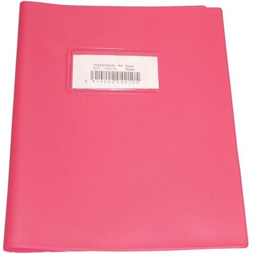 Bronyl schriftomslag ft 16,5 x 21 cm (schrift), roze