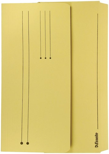 Esselte documentenmap Pocket File geel 1 Stuk
