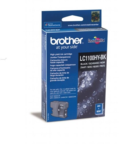 Brother inktcartridge, 900 pagina's, OEM LC-1100HYBK, zwart