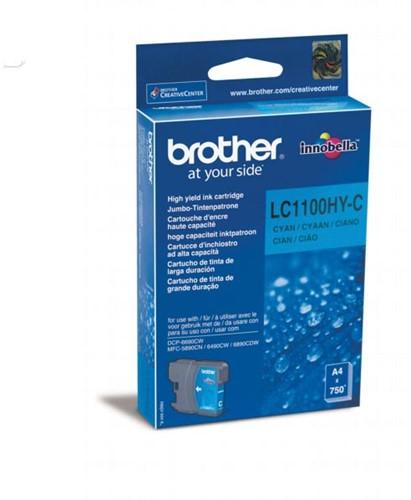 Brother inktcartridge, 750 pagina's, OEM LC-1100HYC, cyaan 1 Stuk