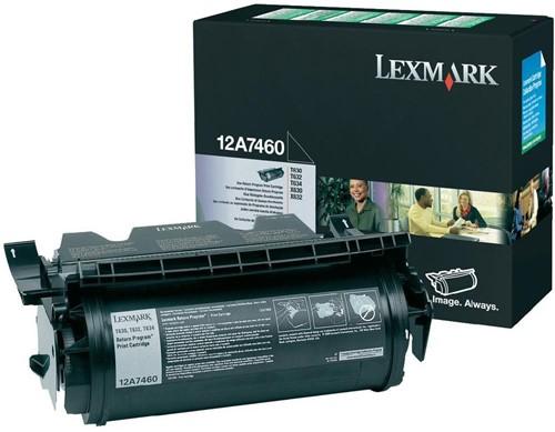 Lexmark Tonercartridge zwart return program - 5000 pagina's - 12A7460 1 Stuk