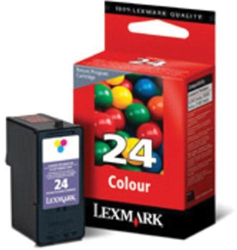Lexmark inktcartridge 24, 3 kleuren, 185 pagina's - OEM: 18C1524E 1 Stuk