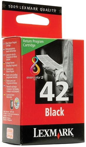 Lexmark inktcartridge 42 zwart, 220 pagina's - OEM: 18Y0142E 1 Stuk
