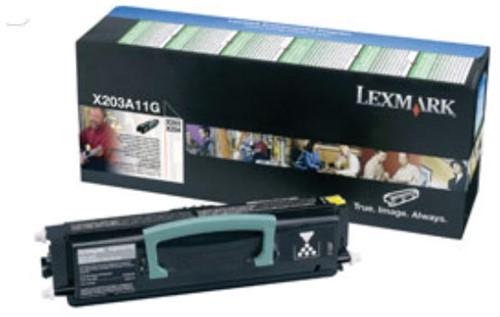 Lexmark Toner Kit return program - 2500 pagina's - X203A11G 1 Stuk