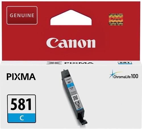 Canon inktcartridge CLI-581C, 259 pagina's, OEM 2103C001, cyaan 1 Stuk