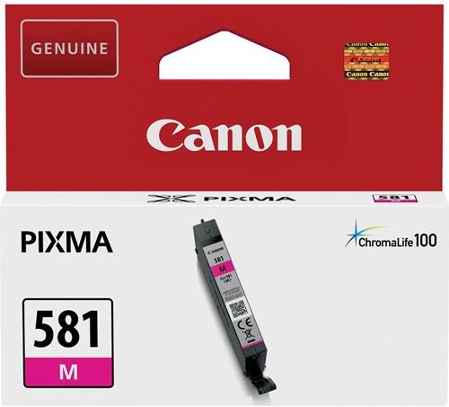 Canon inktcartridge CLI-581M, 223 pagina's, OEM 2104C001, magenta 1 Stuk