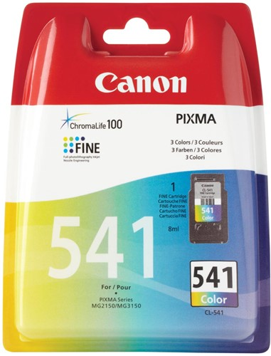 Canon inktcartridge CL-541, 3 kleuren, 180 pagina's, OEM 5227B005, 3 kleuren 1 Stuk
