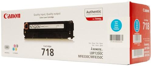Canon toner 718C, 2.900 pagina's, OEM 2661B002, cyaan 1 Stuk