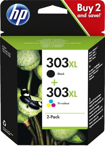 INKCARTRIDGE HP 3YN10AE 303XL ZWART + KLEUREN 1 Stuk