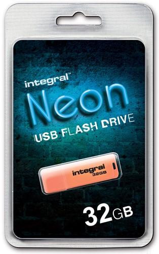 Integral Neon USB 2.0 stick, 32 GB, oranje 1 Stuk