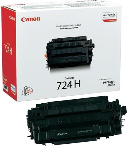 Canon toner 724H, 12.500 pagina's, OEM 3482B002, zwart 1 Stuk