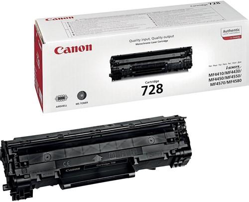 Canon toner 728, 2.100 pagina's, OEM 3500B002, zwart 1 Stuk